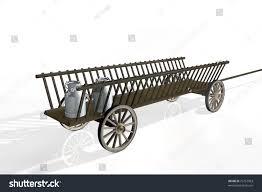 wooden cart stock illustration 75757963