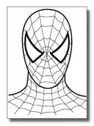 drawn spider man face pencil color drawn spider man face