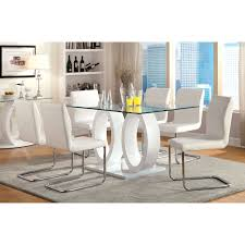 7 dining room sets furniture of america damore contemporary 7 high gloss dining