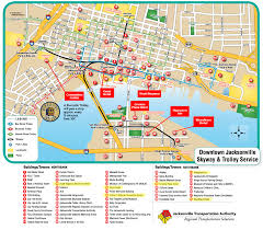 Riverwalk Map Map Of Jacksonville Florida Vacations Travel Map Holiday