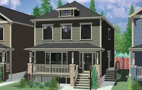Duplex House Plans For Narrow Lots Stacked Duplex House Plans Floor Plans