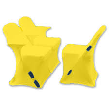 yellow chair covers linen rental arena chair covers