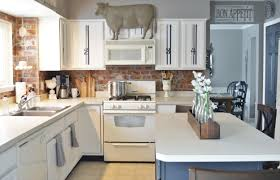 How To Repaint Kitchen Cabinets White Painted Kitchen Cabinets Adding Farmhouse Character U2014 The Other