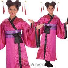 ck653 pink geisha asian princess japanese girls kimono fancy dress