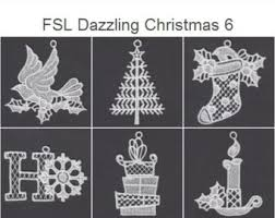 fsl filigree 4 free standing lace ornament