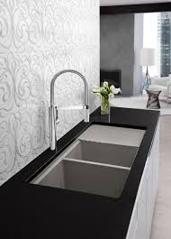 modern faucets kitchen absorbing waterstone faucet for omicron granite bamboo sinks bamboo
