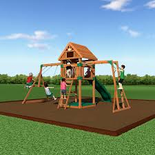 amazon com backyard discovery capitol peak all cedar wood playset