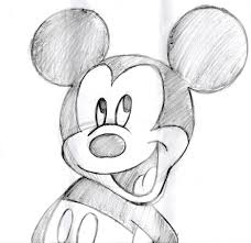 mickey mouse sketch by theblindprophetess on deviantart drawing