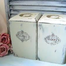 colorful kitchen canisters sets colored kitchen canisters shabby chic painted vintage
