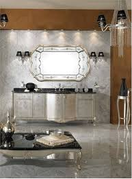 Silver Bathroom Decor by Lavish Bathroom Decoration With Silver Vanity Storage And Marble