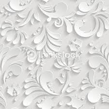 abstract floral 3d seamless pattern trendy design template vector