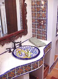mexican tile bathroom designs amazing how a beautifully framed bathroom mirror gives way to the