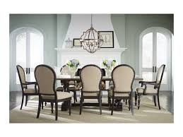 standard furniture cambria two tone dining table with trestle base