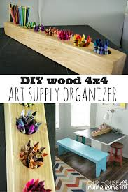kids art table with storage diy wood 4x4 project blogger home projects we love pinterest