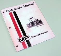 massey ferguson mf 285 tractor owners operators manual instruction