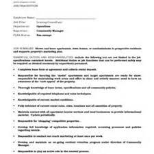 Leasing Consultant Duties Resume Leasing Agent Duties Resume Free Resume Example And Writing Download