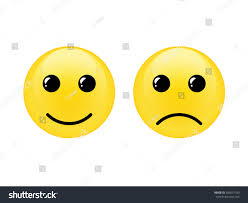 cute symbol happy unhappy face vector stock vector 433057180
