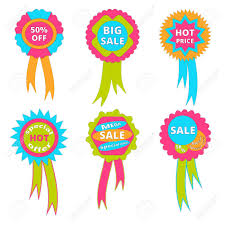 ribbons for sale set of banners with ribbons sale royalty free cliparts vectors