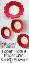 paper plate fingerprint flower craft my bored toddler