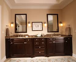 master bathroom color ideas rustic wooden vanity cabinet sink