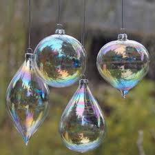 4pcs lot glass clear baubles ornaments decorations