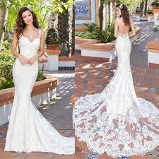 wedding dreses chen 2017 mermaid wedding dresses backless spaghetti neck