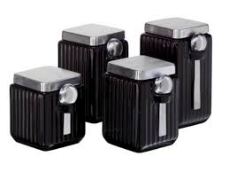 kitchen canisters black canisters amazing black canisters for kitchen black and white