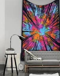 210 150cm large blanket abstract hippie wall tapestry moon wolf