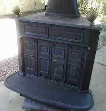 cast iron wood burning fireplace interior design