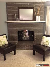 grey painted brick fireplace like that it still looks like brick
