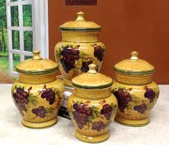 grape kitchen canisters kitchen accessories grape yellow decorative kitchen canisters
