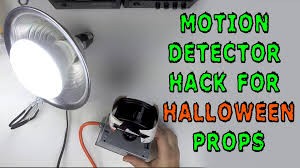 halloween props 2014 how to motion detector hack for halloween props youtube