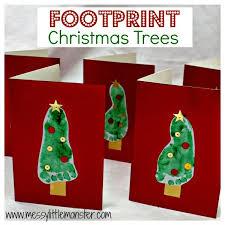 footprint christmas tree messy little monster