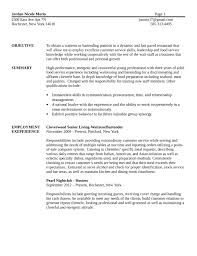 Resume Template For Bartender Basic Bartender Resume Template