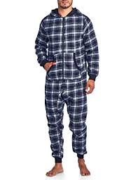 mens one jumpsuit amazon com ashford s flannel hooded one pajama