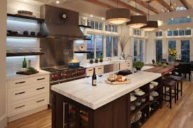 kitchen with island design 18 neat ergonomic kitchen islands designs featuring open shelving