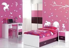 beatiful lavender paint wall with pegasus wallpaper small children