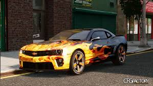 camaro modified camaro zl1 flames paint job pack download cfgfactory