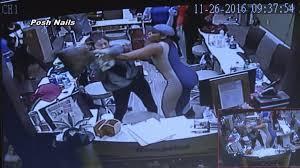 surveillance cameras capture violent attack at savannah nail salon