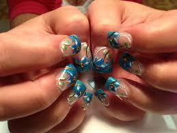 crystal clear ocean treasure nail art designs by top nails