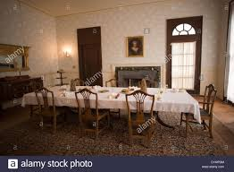 dining room in plum orchard mansion on cumberland island national