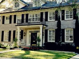 beautiful tampa homes love the cream brick with black shutters and