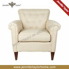 american country style classic tufted button single seater sofa