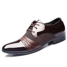 wedding shoes office men s smart oxford leather pointed toe business formal office work