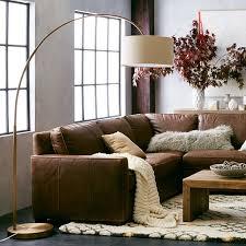 vintage brass l shade overarching linen shade floor l antique brass