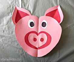 heart pig craft for kids crafty morning