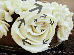 rose swirls of old fashioned heirloom vanilla custard frosting