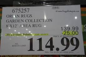 8 X 12 Area Rug Costco Deal Orian Rugs Garden Collection 8 X12 Area Rug 114 99