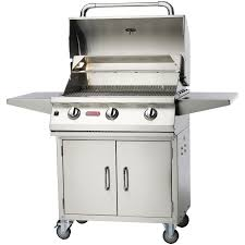 Bull Bbq Outdoor Kitchen Bull Lonestar 3 Burner Stainless Steel Propane Gas Bbq Grill On