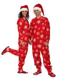 winter snowflake footed pajama snow wear